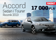 Honda Accord Tourer i Sedan - rabat 17 000 PLN