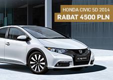 Honda Civic 5D 2014 - Rabat 4 500 PLN