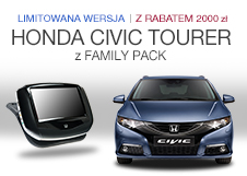 Honda Civic Tourer z FAMILY PACK
