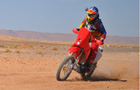 Motocykliści Hondy na mecie Rajdu Dakar
