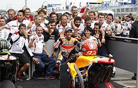 Marquez i Honda wygrywają dramatyczny wyścig MotoGP w Niemczech
