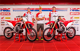 Zespoły fabryczne Hondy odsłoniły Honda CRF 2017 na MXGP Holandii.