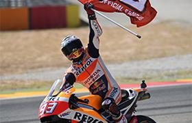 Marquez i Honda wygrywają w Aragonii