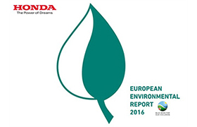 "HONDA OPUBLIKOWAŁA ""EUROPEAN ENVIRONMENTAL REPORT 2016"""